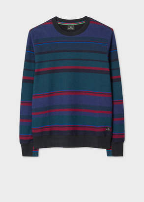 Paul Smith Men's Navy Stripe Cotton Sweatshirt