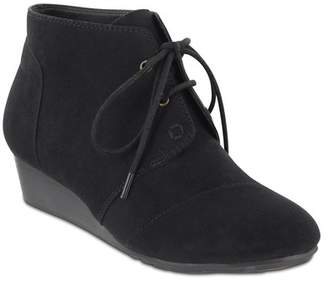 MIA AMORE Sarah Lace-Up Wedge Bootie