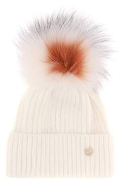Yves Salomon Fur-trimmed beanie