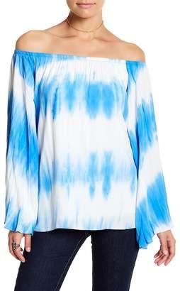 VAVA by Joy Han Eliya Off-the-Shoulder Tie-Dye Shirt
