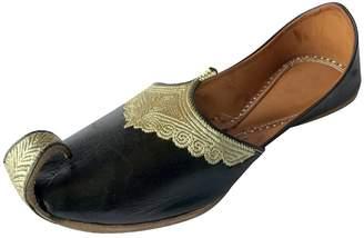 N. Step Style Wedding Mojaries Indian Handmade Men Shoes Groom Khussa Leather Jutti