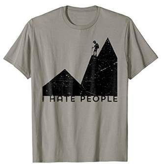 I Hate People Vintage Art Camping Mountain Shirts for Women