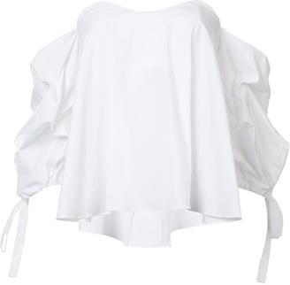 Citizens Of Humanity off-shoulders ruffled blouse $395 thestylecure.com