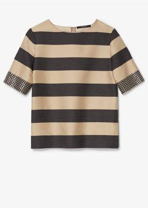Derek Lam Studded Cuff Stripe Top
