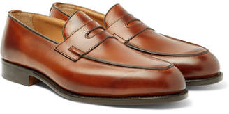 Tricker's Blair Burnished-Leather Penny Loafers