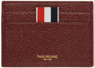 Thom Browne SSENSE Exclusive Burgundy Single Card Holder