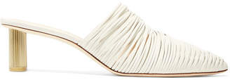 Cult Gaia Sage Leather Mules - White