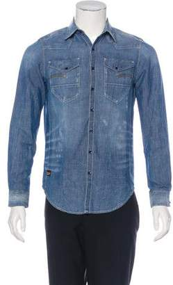 G Star Deconstructed Denim Shirt.