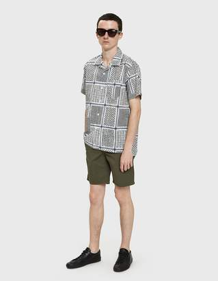 Norse Projects Aros Light Twill Shorts in Dried Olive