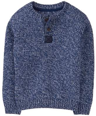 Crazy 8 Marled Henley Sweater