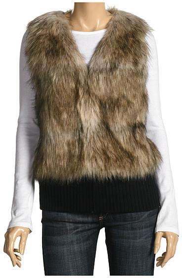Juicy Couture Fur Vest W/ Rib Trim