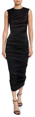 Alex Perry Ruched-Satin Bodycon Dress