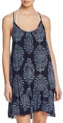 J Valdi Capri Strappy Ruffle Dress Swim Cover-Up