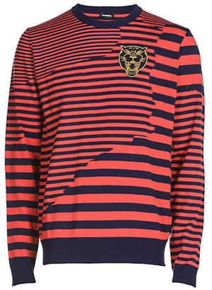 Diesel K-Stakx Striped Wool-Blend Sweater