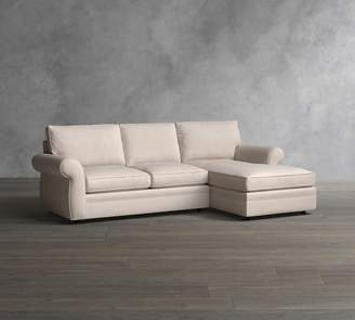Pottery Barn Pearce Roll Arm Upholstered Sofa with Chaise Sectional