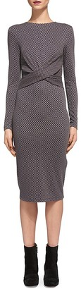 Whistles Millie Jacquard Jersey Dress $210 thestylecure.com