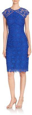 Shoshanna Floral Lace Sheath Dress $395 thestylecure.com