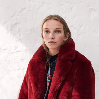Sandro Oversized faux fur coat