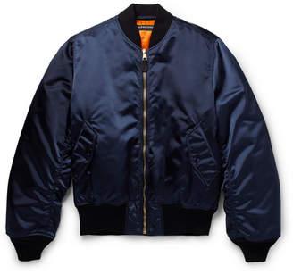 Balenciaga Appliquéd Shell Bomber Jacket