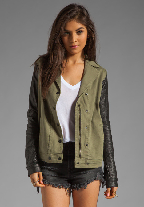 Joe's Jeans Easy Rider Jacket in Army Black