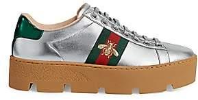 Gucci Women's New Ace Platform Bee Sneakers