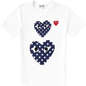 Comme des Garcons Polka Dot Twin Heart Tee