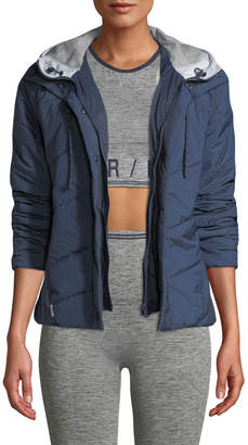 LNDR Toast Quilted Zip-Front Hooded Jacket