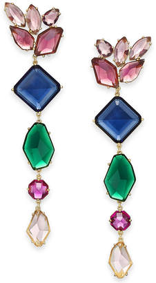 Kate Spade Gold-Tone Multi-Crystal Statement Earrings