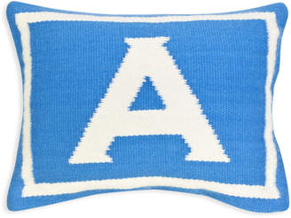Jonathan Adler Reversible Junior Blue Letter Throw Pillow
