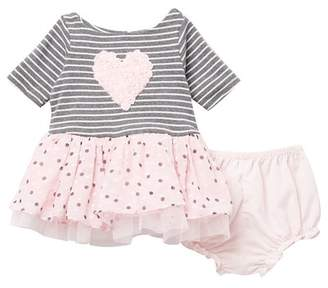 Pippa Pastourelle by and Julie Soutache Heart Tutu Dress (Baby Girls)