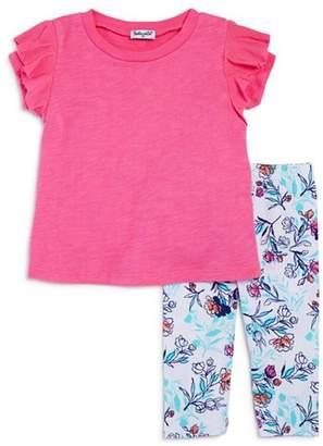 Splendid Girls' Ruffled Top & Floral-Print Leggings Set - Little Kid