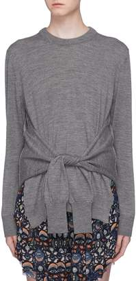 Chloé Sleeve tie side split wool knit top