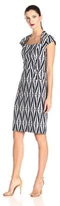 Adrianna Papell Women's Printed Sheath Dress
