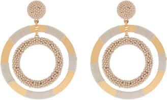 Accessorize Loopy Beaded Hoop Earrings