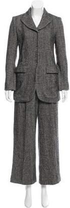 Sonia Rykiel Peak-Lapel Wool Pantsuit