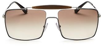 Prada Square Top Bar Metal Sunglasses, 58mm $330 thestylecure.com