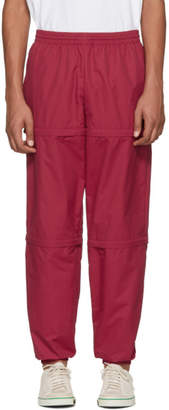 Balenciaga Red Nylon Zipped Track Pants