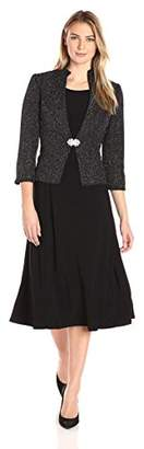 Jessica Howard Women's Mandarin Collar Jacket Dress with Rhinestone Closure $128 thestylecure.com
