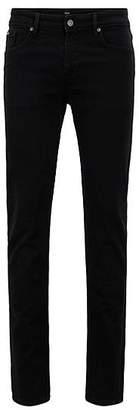 HUGO BOSS Extra-slim-fit black jeans in Italian stretch denim