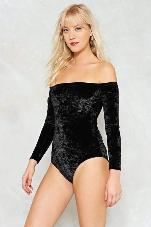 nastygal Crushin' on You Velvet Bodysuit