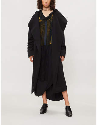 Drkshdw Wrap-over cotton-jersey robe jacket