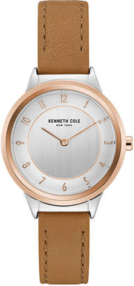 Kenneth Cole New York Ladies' Leather Strap with Case and Classic Dial, 34MM