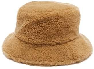 Federica Moretti Fleece Bucket Hat - Womens - Camel