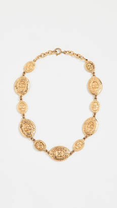 Chanel What Goes Around Comes Around Oval Coin Necklace