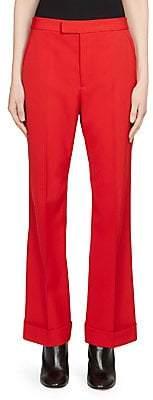 Maison Margiela Women's Wool-Blend Kick Flare Pants