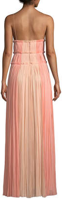 J. Mendel Strappy Sweetheart Two-Tone Silk Gown