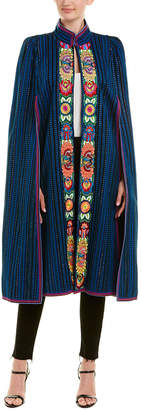 Anna Sui Gathering Of The Tribes Embroidered Jacquard Jacket