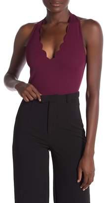 Love by Design Scallop Halter Bodysuit