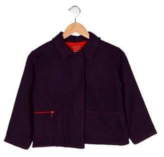 Kenzo Girls' Collared Wool Coat