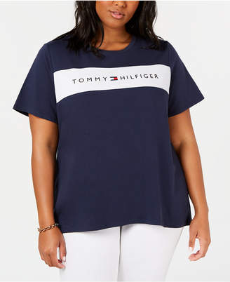 Tommy Hilfiger Plus Size Logo-Graphic T-Shirt